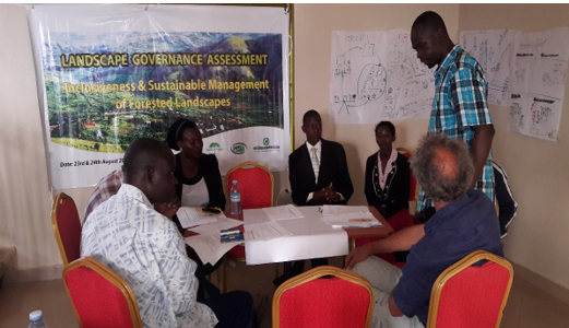 Landscape governance assessment workshop whose aim was to   identify changes in landscape governance, through a status assessment at the start and the end of the GLA programme in order to achieve sustainable and inclusive management of forested landscapes