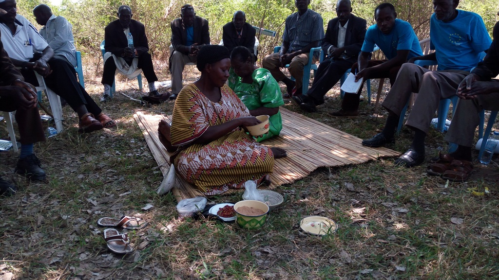 Margaret Kagole explaining the benefits of indigenous foods to human health