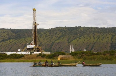 Ngasa 11 Oil Well at the shores of L. Albert in Western Uganda